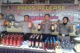 Polres Tala amankan berbagai merk minuman keras