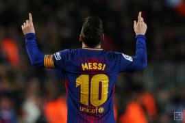 Messi cetak trigol pada pertandingan pemanasan Piala Dunia