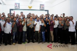 Kapolres Asahan gelar silaturahmi dengan wartawan