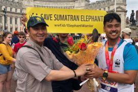 Chicco Jericho bersama lebih dari 30 pelari Indonesia ikut London Marathon