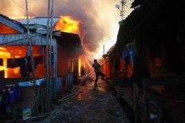 Ruko terbakar di Bojonegoro, pemilik alami luka bakar