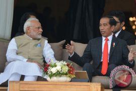 Presiden Jokowi dan PM Modi saksikan pengumuman 15 kerja sama