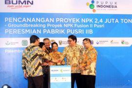 Airlangga Hartarto apresiasi Pencanangan Proyek Pabrik NPK 2,4 juta ton