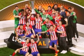 Atletico juara Liga Europa, Real Madrid ucapkan selamat