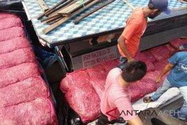 TNI AL gagalkan penyelundupan bawang merah di Aceh Tamiang