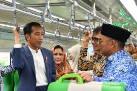 Kereta bandara ketiga di Indonesia diresmikan Presiden