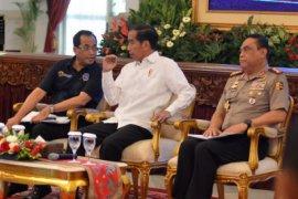 Presiden menerima pengemudi angkutan barang