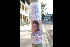 Poster konser Rich Brian dipajang di jalanan Australia