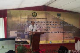 Wamen ESDM resmikan sumur bor tanah dan PLT EBT di Sumbar