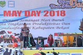 """Pemkab Bekasi peringati """"May Day"""" di komplek Stadion Wibawa Mukti"""