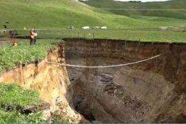 Lubang runtuhan di Selandia Baru ungkap keberadaan sebuah gunung berapi