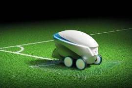 Nissan pamer robot penggambar lapangan di final Liga Champions