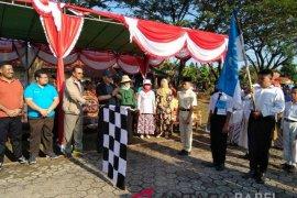 Ratusan peserta meriahkan napak tilas kebangsaan di Muntok