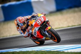 Marquez juara di Spanyol dan rebut posisi puncak