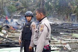 Dua rumah kayu terbakar di Aceh Utara