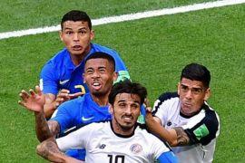 Brazil-Kosta Rika 0-0 di babak pertama