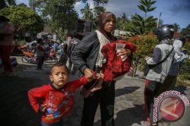 Warga lereng Merapi di Magelang tinggalkan tempat pengungsian