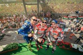 Lorenzo menang di Italia saat Marquez terjatuh