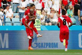 Hingga babak pertama usai, Peru ungguli Australia 1-0