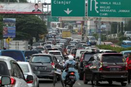 Arus kendaraan di jalur Puncak-Cianjur berkurang