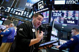 Reli saham perbankan, Wall Street ditutup bervariasi