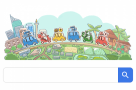 Google Doodle rayakan mudik Lebaran