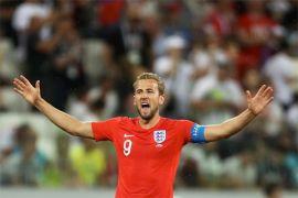 Dua gol Kane antar Inggris ungguli Tunisia