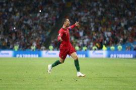 Portugal tahan Spanyol 3-3, Ronaldo hattrick