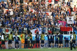 Jepang satu-satunya wakil Asia di 16 besar dalam foto-foto Piala Dunia