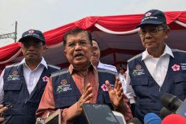 Wapres lepas keberangkatan relawan Siaga Lebaran PMI
