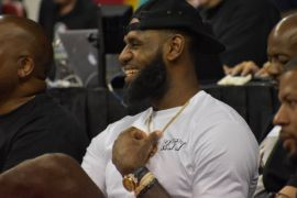 LeBron James ikut nonton Lakers berlaga di Summer League