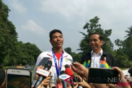 Presiden terima Zohri di Istana Bogor