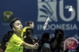 Balaskan kekalahan Jonatan, Ginting jejaki perempat final Jepang Terbuka
