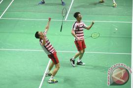 Marcus/Kevin bangkit untuk raih tiket semifinal Indonesia Terbuka
