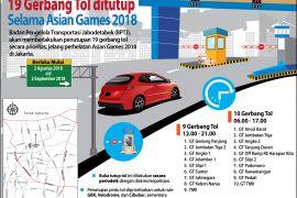 19 Gerbang Tol ditutup Selama Asian Games 2018