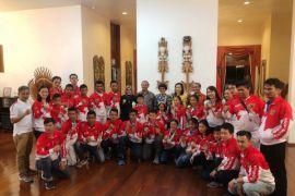 Lewat seragam unik, tim wushu Indonesia bawa misi ekonomi berkelanjutan