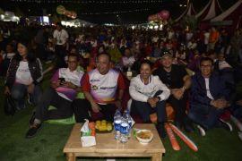 Menteri Rini nobar final Piala Dunia di Kampung BUMN