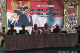 Relawan pendukung Jokowi-Moeldoko berdeklarasi di Sukabumi