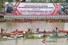 Polda Kalsel cetak rekor dunia gelar parade jukung terbanyak