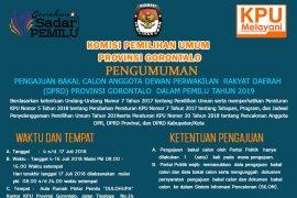 Pengumuman Pengajuan Calon DPRD Provinsi Gorontalo