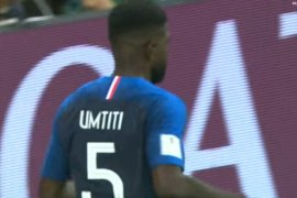 Tandukkan Umtiti bawa Prancis ke final