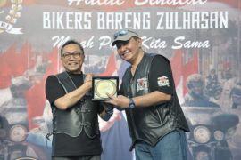 Saat Ketua MPR kumpul bersama bikers