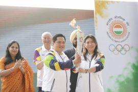 Susy mulai pawai obor Asian Games dari India