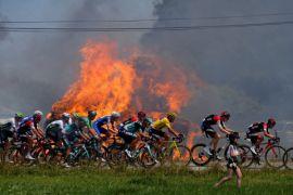 Tour de France terganggu demonstrasi para petani