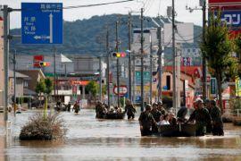 Korban tewas akibat bencana hujan hebat di Jepang jadi 199 orang
