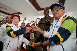 Kotanya didatangi obor Asian Games, atlet Blitar diharapkan termotivasi