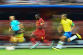 Foto-foto saat Brasil dipermalukan Belgia 1-2