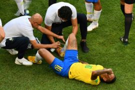 Ledekan suporter Belgia untuk Neymar
