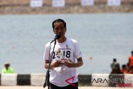 Presiden Jokowi resmikan lima arena di Jakabaring