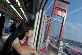 Pembangunan LRT Palembang tercepat di dunia